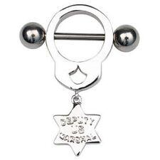 Adjunto Marshall Manilla Diseño pezón anillo BARBELL Escudo