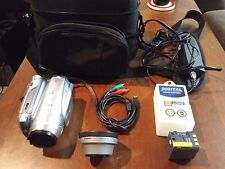 Canon HV20 High Definition Camcorder w/Bag and Wide Angle WD-H46 Lens, more
