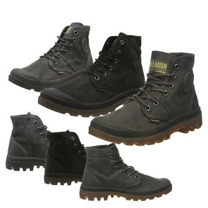Palladium Mens Pallabrouse Wax Textile Canvas Rubber Casual Lace Up Ankle Boots
