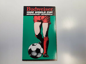 RS20 World Cup 1986 Soccer Broadcast Pocket Schedule - Budweiser