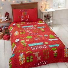 Christmas Fun Junior Toddler Duvet Cover Set Kids Bedding Xmas Red / Multi