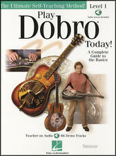 Play Dobro Guitar Today Level 1 TAB Music Book/Audio Learn How To Play Method