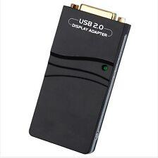 USB 2.0 UGA to DVI / VGA / HDMI Graphic Display Converter Adapter Card Win10 MAC