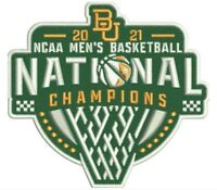 2021 BAYLOR BEARS PATCH MEN'S NATIONAL CHAMPIONS FINAL FOUR NCAA CHAMPIONSHIP