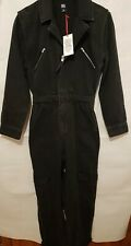 BDG Urban Outfitters Black Bella Boilersuit Size XS / fits Uk 8-10 ( NEW )