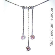 925 Sterling Silber Halskette silver necklace rose farben silver necklace