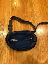 JANSPORT Fanny Pack Blue Grey Small Waist Hip Bag 2 Pockets Adjustable Travel