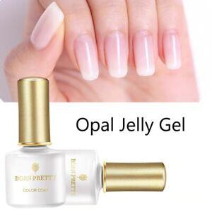 Opal Jelly Gel 6ml Pink Nail Gel Polish Base Coat No Wipe Top Coat White Soak UV