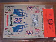 NEW 2000 JERRY NADEAU #25 MICHAEL HOLIGAN 1/24 SCALE WATER SLIDE DECAL SHEET