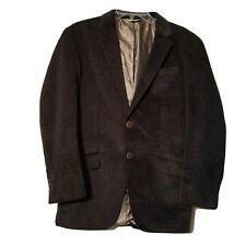 Pronto-Uomo Men's 2 Button Blazer Jacket ~ Sz S ~ Brown ~ Lined ~ Feels Soft