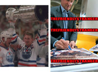 "WAYNE GRETZKY signed ""EDMONTON OILERS"" 8X10 PHOTO a PROOF - Stanley Cup COA"