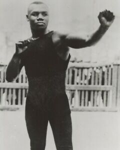 SAM LANGFORD 8X10 PHOTO BOXING PICTURE