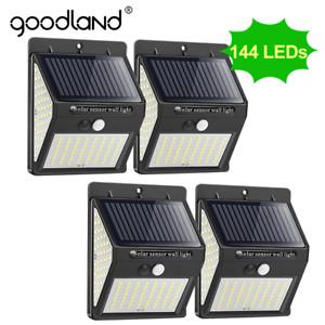 Goodland 144 100 LED Solar Light Outdoor Solar Lamp PIR Motion Sensor Solar Powe