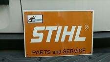 Stihl Parts and Service chainsaw advertising sign