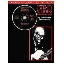 Twenty studies for the guitar by Segovia, Andres, Sor, Fernando