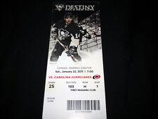 Pittsburgh Penguins 2010-11 Game 25 Ticket Stub Carolina Hurricanes CHRIS KUNITZ