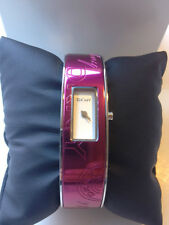 NIB DKNY St Steel Berry Aluminum Logo Bangle Ladies Watch. NY8293