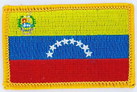 VENEZUELA FLAG PATCH BADGE IRON ON NEW EMBROIDERED