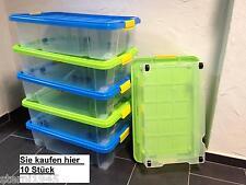 10 X Unterbettkommode Aufbewahrungsbox Stapelbox Eurobox 60 X 40 X 18 CM Neuware