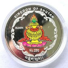 Bhutan 2010 Smile of Angkor Cambodia 250 Ngultrums 1oz Silver Coin,Proof