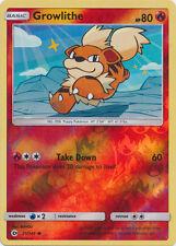 1X Growlithe REVERSE HOLO COMMON (21/149) -Sun and Moon- Base Set - NM- Pokemon