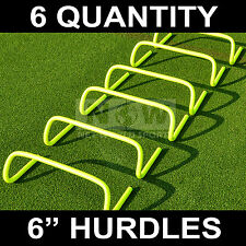 "6 qty. AGILITY HURDLES 6"" Football Rugby Speed Training [Net World Sports]"