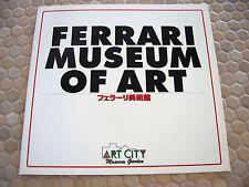 FERRARI MATSUDA OFFICIAL MUSEUM OF ART ISSUED BROCHURE JAPAN 1997