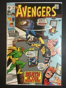 The Avengers 74 FN/VF Death is the Hunter! 1970 Marvel Comics