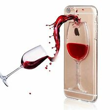 Red Wine Glass Moving Liquid Case Cover iPhone 5 5c SE 6 6S 7 Plus 8 Plus X 11
