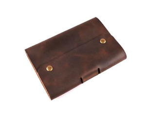 Leather Journal Refillable Notebook, sketchbook with Pen Loop and zipper pouch