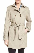 New T Tahari Womens Lady Taupe Beige  Eyelet Fit And Flare Trench Coat  XL