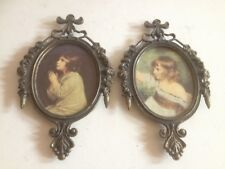 Vintage Solid Brass Collectible Frame Pair Of Picture Frames