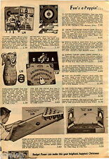 1956 ADVERTISEMENT 2 Pg Game Electro Magnetic Baseball Safari Target Ice Hockey