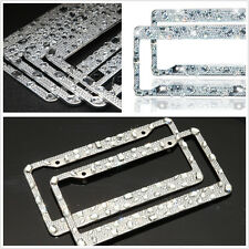 License Plate Frame Pure Handmade Waterproof Glitter Rhinestones Diamond Crystal