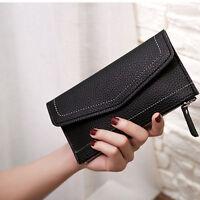New Women's Leather Clutch Wallet Long Card Holder Case Purse Handbag Zipper PU