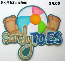 Sandy Toes Title beach summer scrapbook premade paper piecing by Rhonda