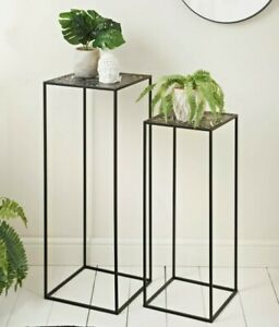 Urban Paradise Set Of 2 Plant Tables Design Side Table/living Room Furniture New
