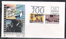 SELLOS TEMA CINE SOBRE MAT.PRIMER DIA BARCELONA 1996 CINE ESPAÑOL 100 AÑOS