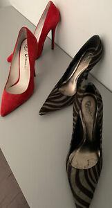 Women's 7 1/2 Carlos Santana zebra Heels