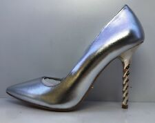 Dune London Silver Pointed Court Shoes Eu 37