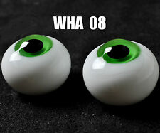 Round Green Iris&Black Pupil 14mm Glass BJD Eyes for Joint 1/4 BJD Dollfie