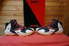 Nike Lebron 11 Independence Day White Red Obsidian Pure Platinum Size 10.5 (2842