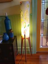 Tall Retro Vintage Mid Century Teak Base Rocket Lamp