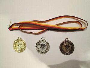 3 Kinder-Medaillen (gold,silber,bronze) 1,2,3 (Party, Geburtstag u.v.m.)
