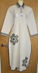 Print Cream Designer Dress Kurta Kurti Kameez Churidaar Suit Bollywood Pakistani