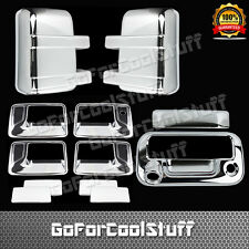 For Ford F-250/F-350 2008-2016 Chrome Mirror, Door Handle & Tailgate Cover