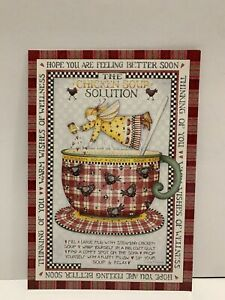 LOT 6 NEW Leanin' Tree GET WELL Cards Chicken Soup Angels GWT40260