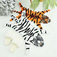 Cartoon Tiger Shape Non Slip Bathroom Rugs Shaggy Soft Bath Mat Absorbent Mats