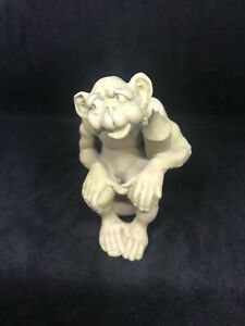 Novelty German Bisque A Monkey Sitting On A Chamberpot-Schafer & Vader Style