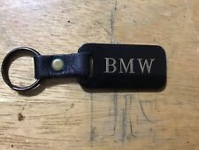 VINTAGE BMW KEY CHAIN WITH LEATHER STRAP ANTIQUE MADE IN AUBURN USA
